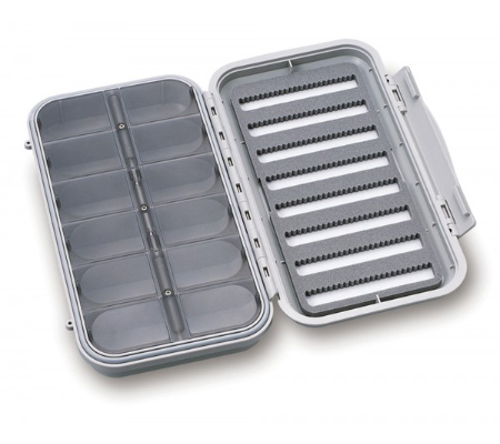 cf design large 8 row waterproof fly box 12 compartments