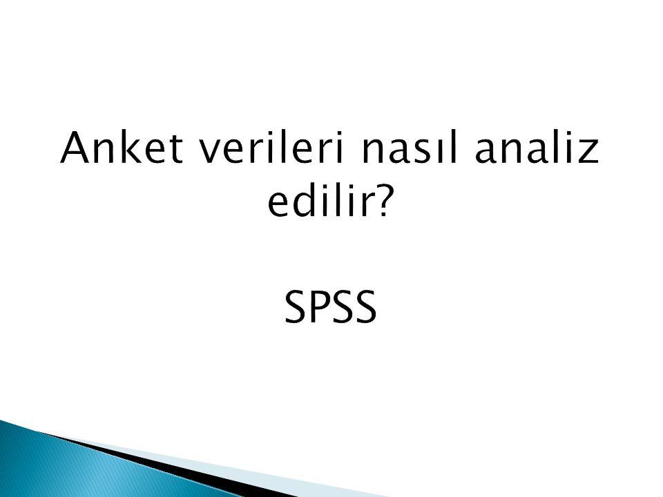SPSS ile Araştırma Bulgularını Analiz Etme ve Yorumlama