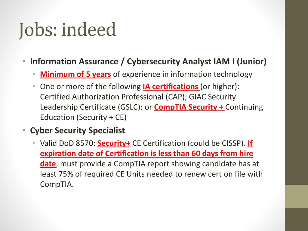 Indeed Security Jobs