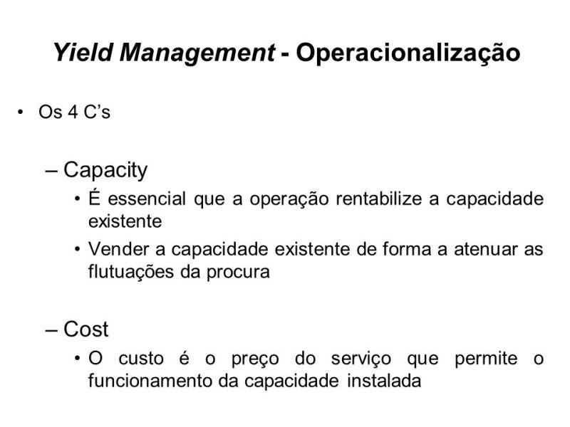 """Resultado de imagem para """"Yield Management"""" conceito"""