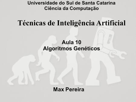 Algoritmos Genéticos para o Problema da Mochila Estéfane G