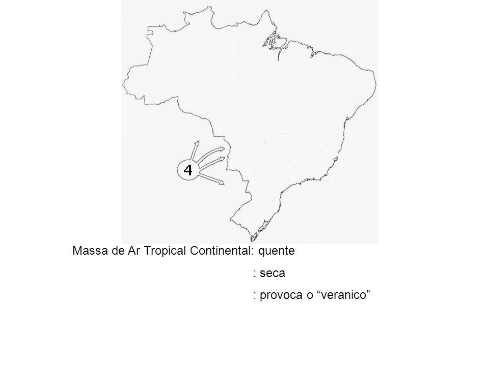 TIPOS DE CHUVAS 1- Massa de Ar Equatorial Amazônica