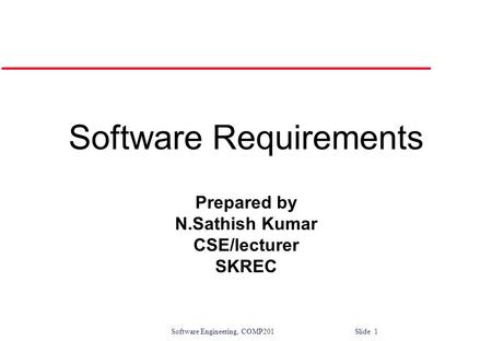 Software Engineering Introduction & Software Requirements