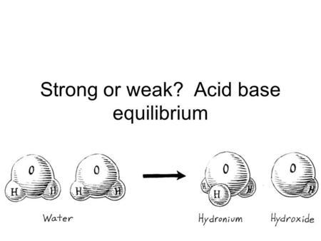 PH Acids, bases, pK Conjugate acid-base pairs Calculate pK