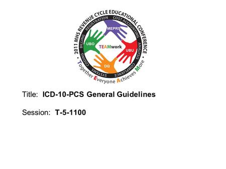 Clinical Documentation Improvement Format of ICD-10 PCS