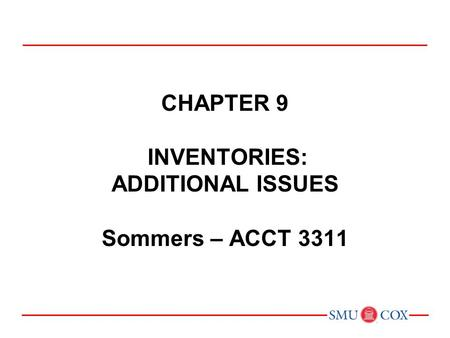 PREVIEW OF CHAPTER 9 Intermediate Accounting IFRS 2nd