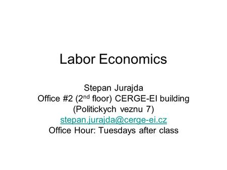 Policy Analysis (using examples from Labor Economics