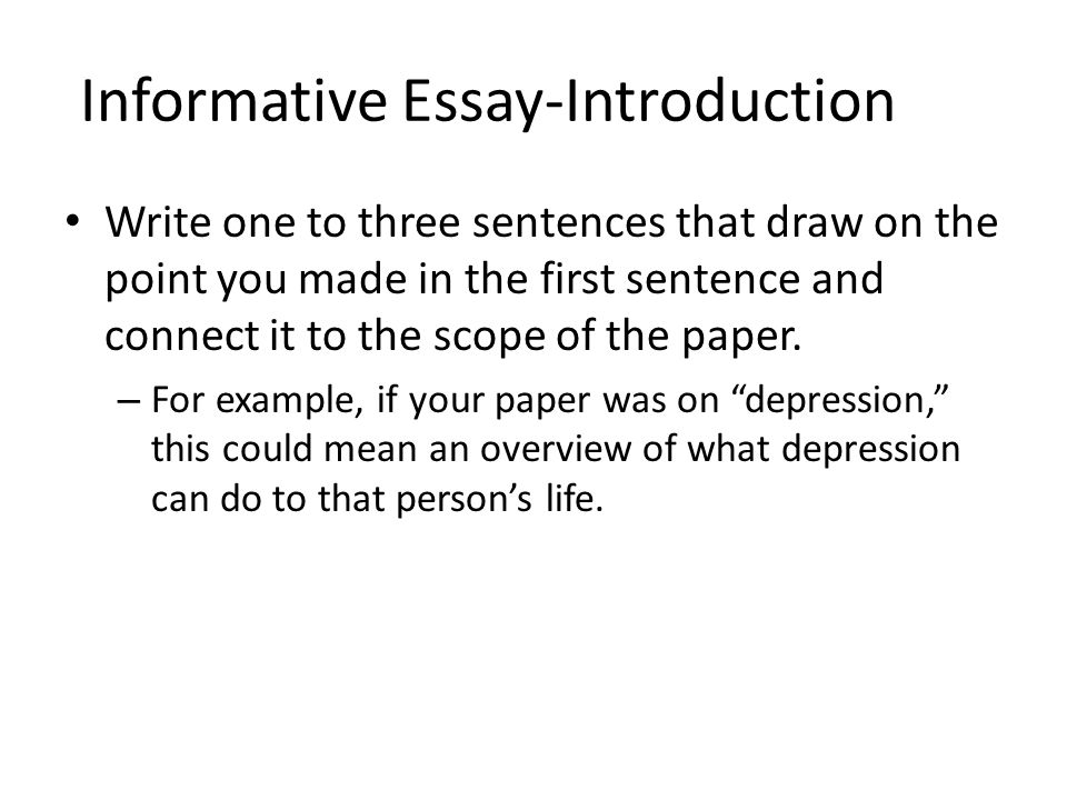 Essay Depression Informative Essay An Introduction Ppt Video Online