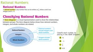 Integers, Rational Numbers and Models Review  ppt video