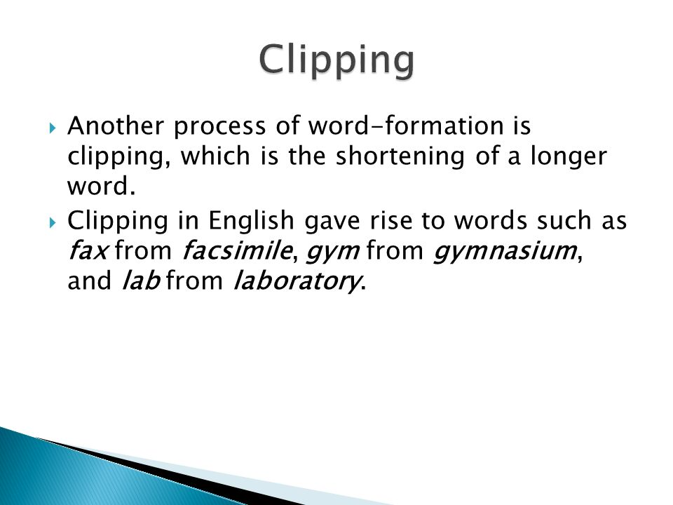 chair gym parts puppy dog words and word-formation processes - ppt video online download