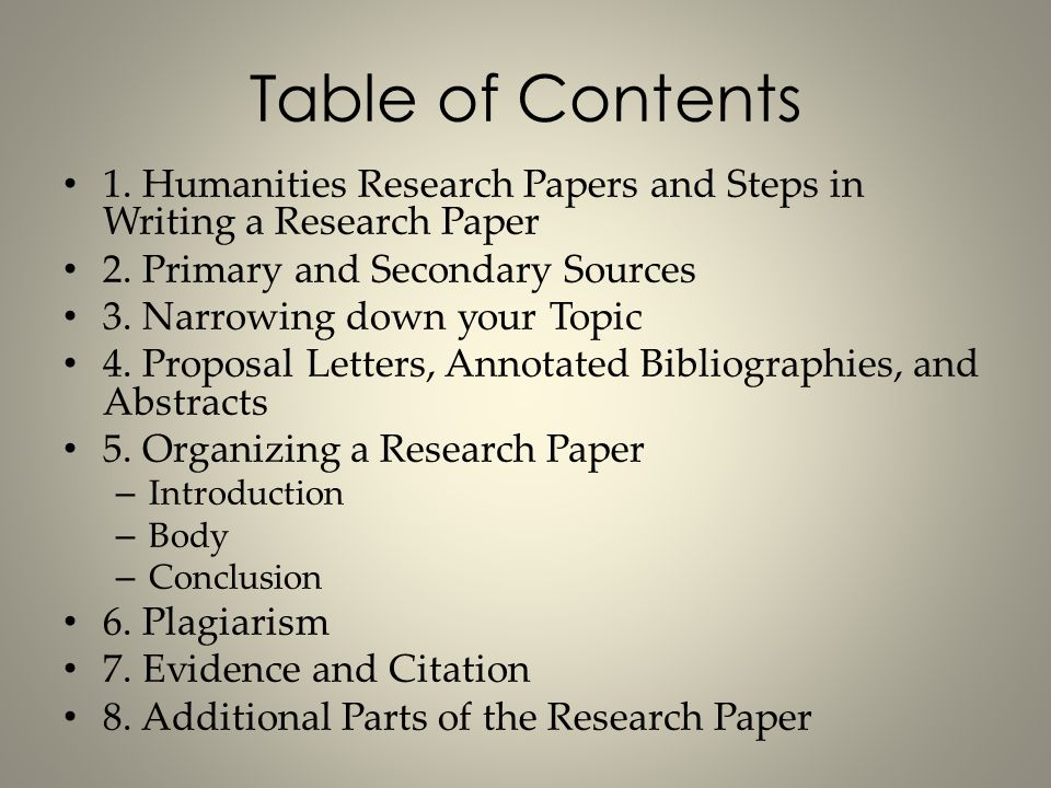 Humanities Research Papers Ppt Video Online Download