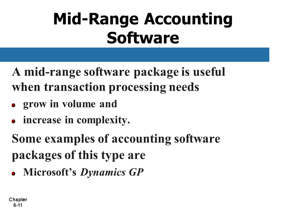 Chapter 6 Accounting And Enterprise Software  Ppt Download
