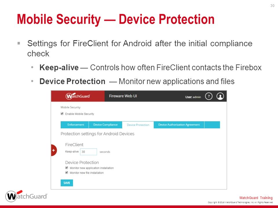 Mobile Security Options