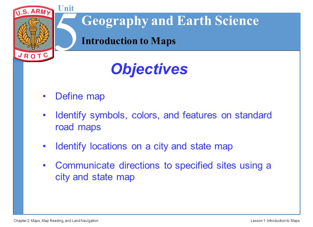 Jrotc Introduction To Maps