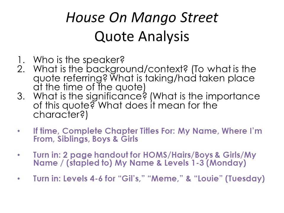 An Analysis Of The Book The House On Mango Street By Sandra Cineros