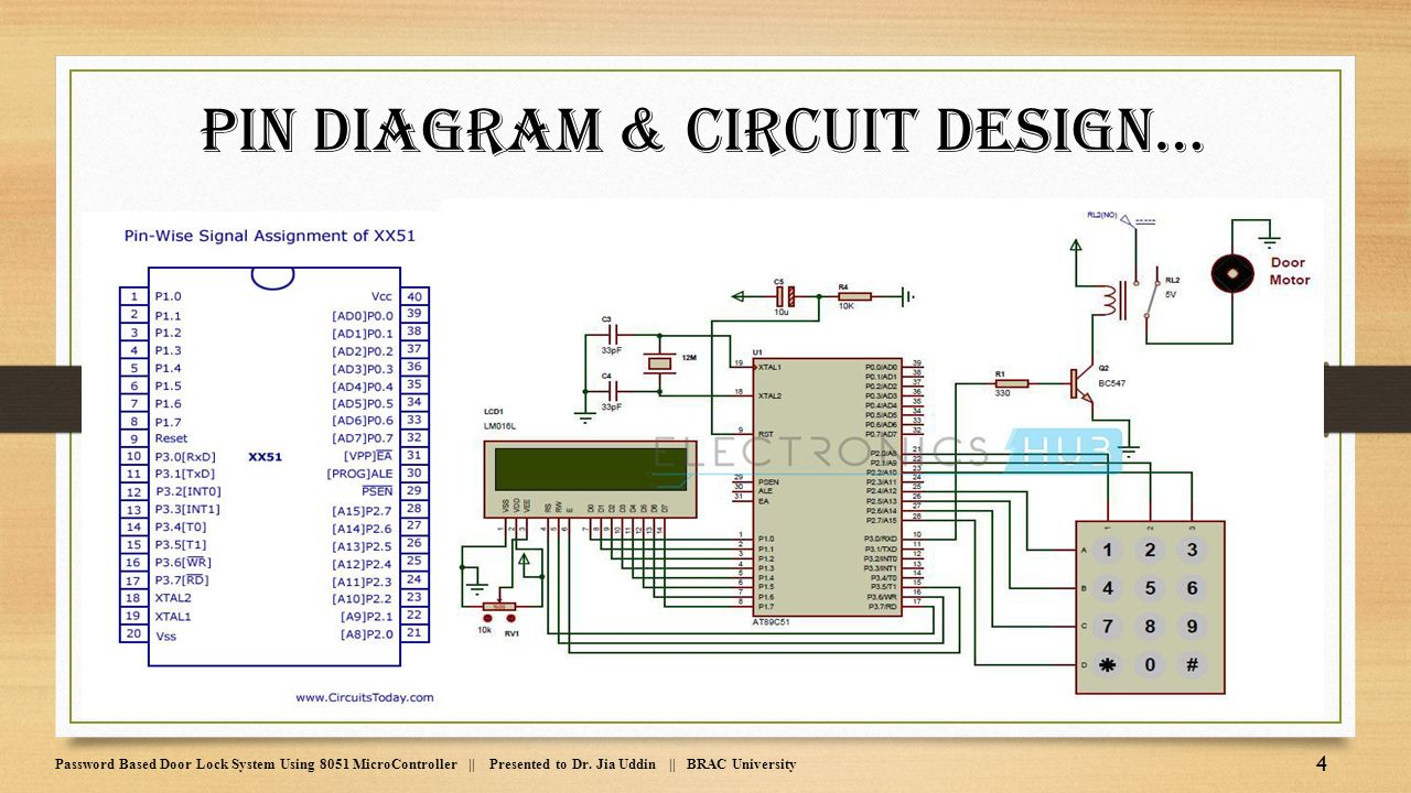 5 pin relay circuit diagram l14 30p wiring 2 password based door lock system using 8051 microcontroller - ppt video online download