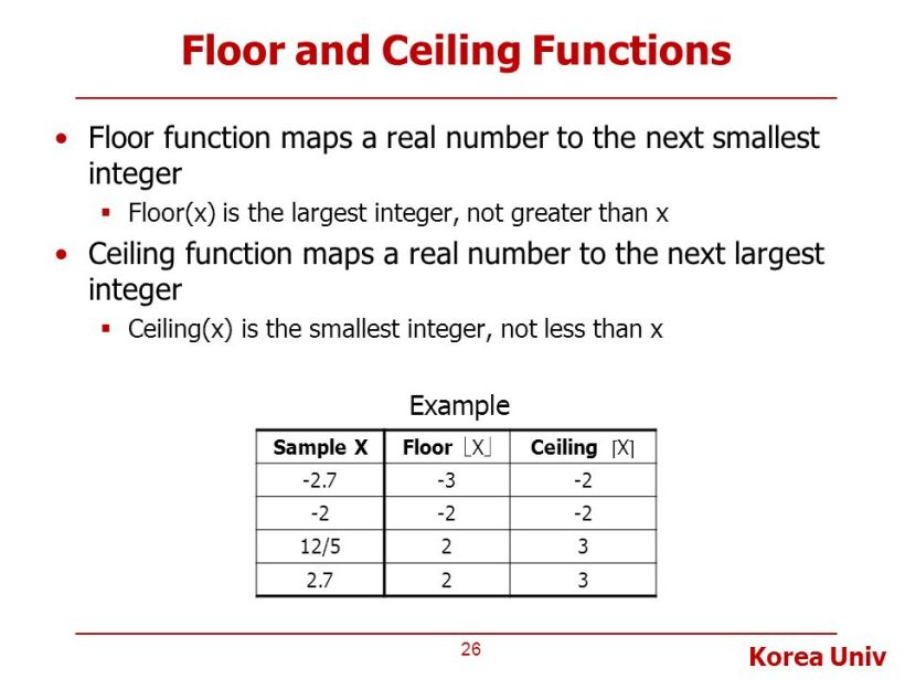 c ceiling function
