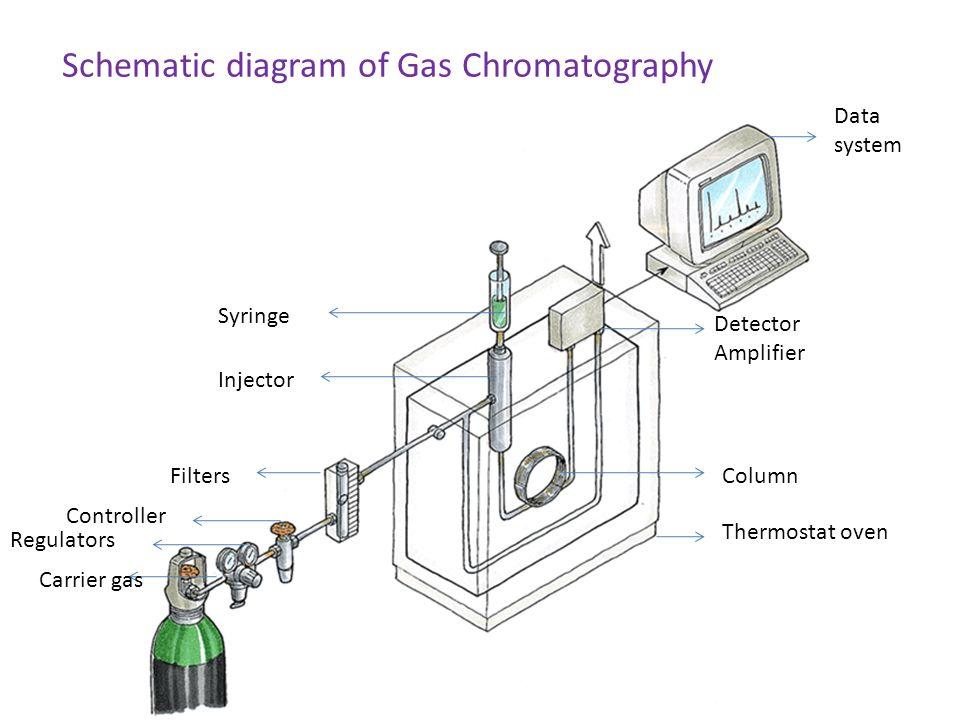 block diagram of gas liquid chromatography