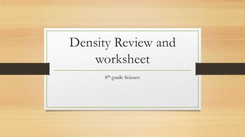 small resolution of Density Review and worksheet 8 th grade Science.  Today is the last day to  PIP for the Unit 2 test. Make sure that you find a time to PIP today if