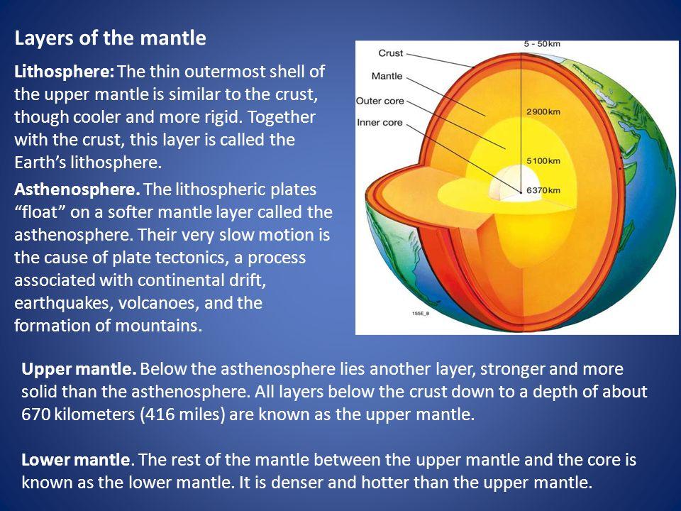 inner mantle asthenospheric mantle made
