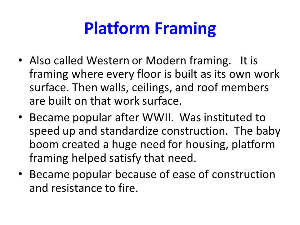 western platform framing | Framess.co