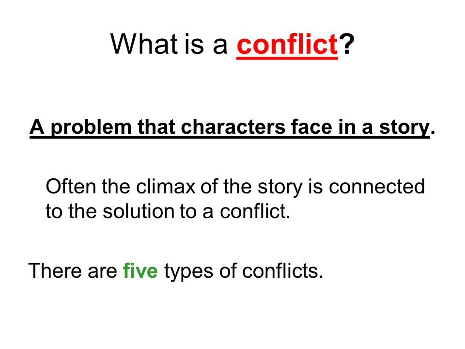 Types Of Conflicts Ppt Download