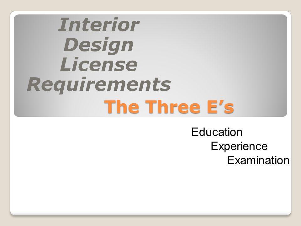 Interior design license