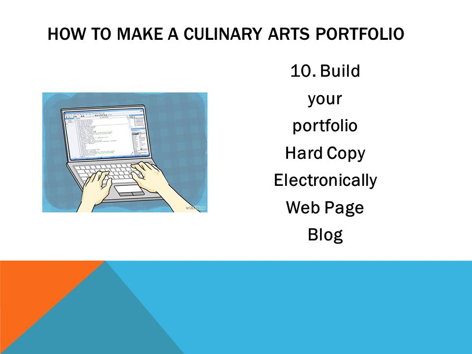 Culinary Arts Student Portfolio Ppt Video Online Download