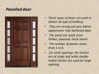 SUBJECT - Technical Terms OF Doors And Types Of Doors ...