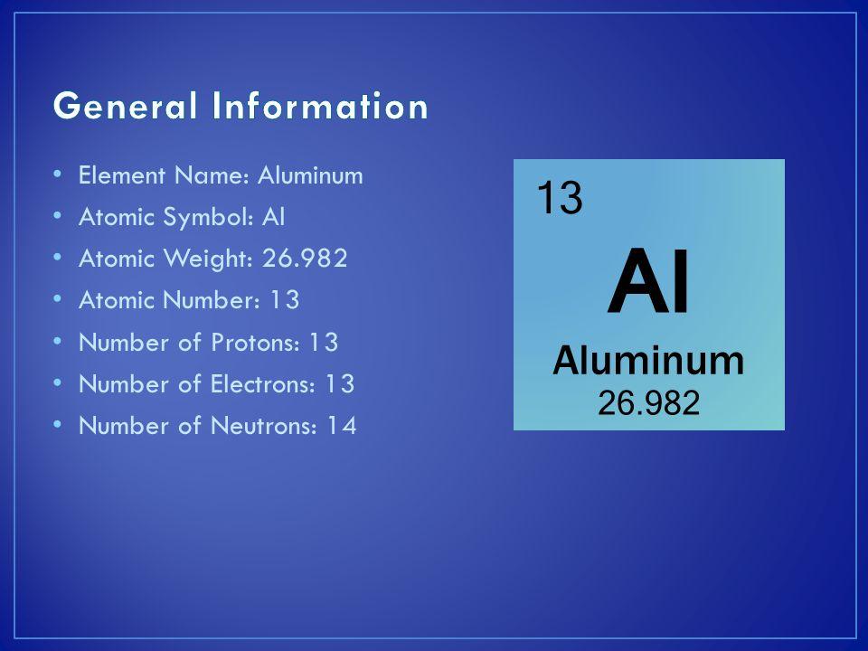 Family On Periodic Table Aluminum