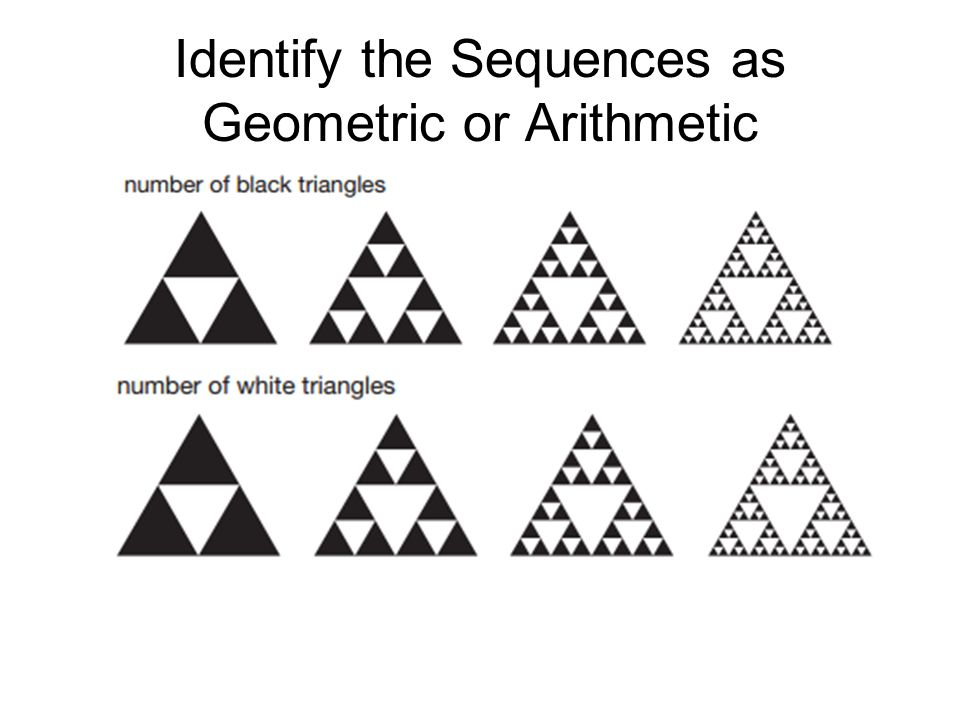 Arithmetic vs. Geometric Sequences and how to write their