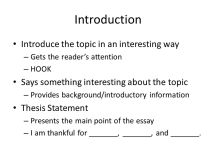 Writing a Five Paragraph Essay - ppt download