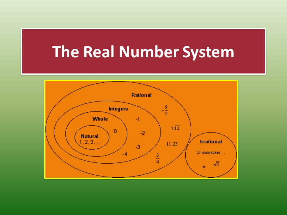 venn diagram of rational and irrational numbers 1971 chevy chevelle wiring the real number system. - ppt video online download