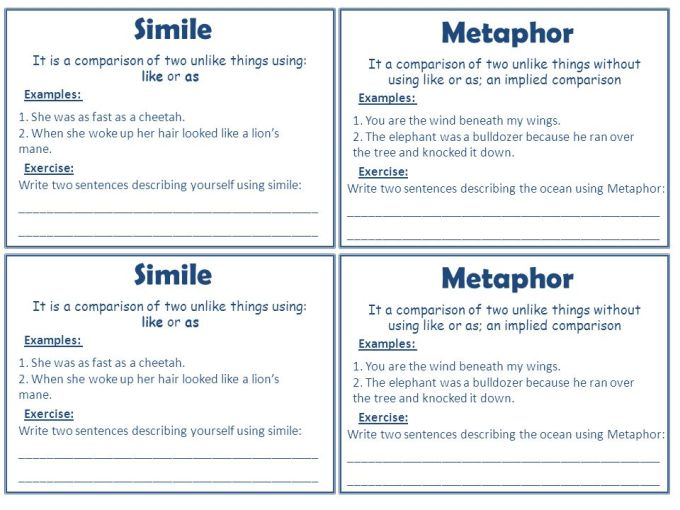 Examples Of Sentences Using Metaphor Gallery Example Cover Letter