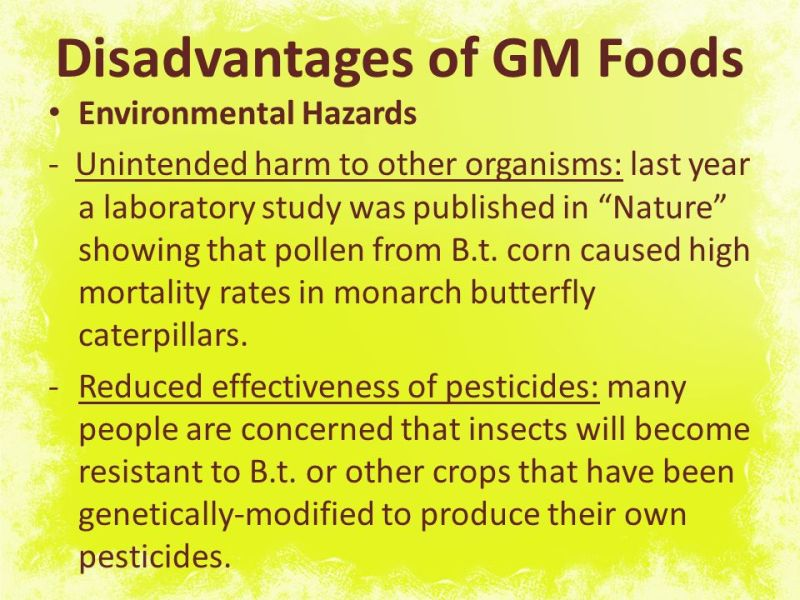 genetically modified food 10 essay Genetically modified food controversies are disputes over the use of foods and  other goods  the same survey found gender differences: 10% of men were  extremely concerned, compared with 16% of women, and 16% of women were.