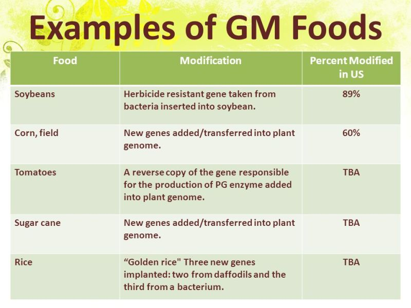 advantages disadvantages there genetically modified food Genetically modified foods, often classified as gmos, have changed the way that  people view their food although genetic modifications have occurred.