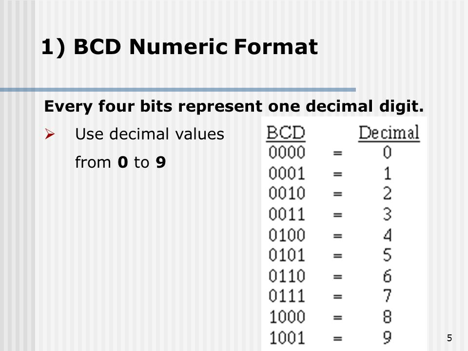 COMPUTER ARITHMETIC Binary Coded Decimal Presented By