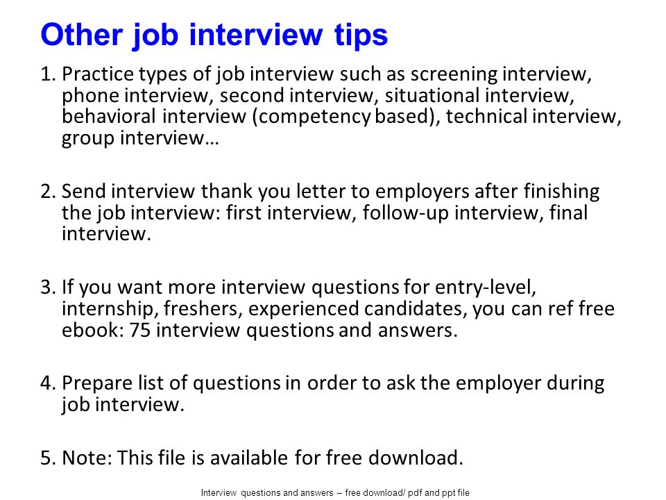 questions to ask employers during an interview
