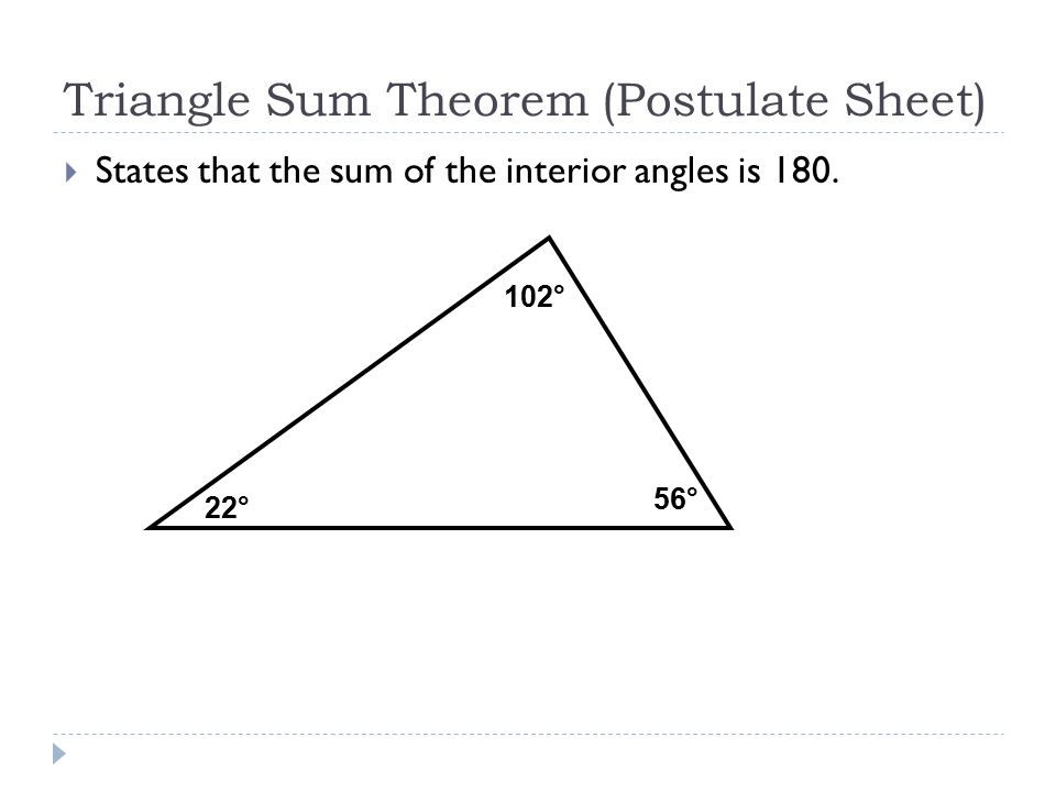 Printable Worksheets  Triangle Sum Theorem Worksheets