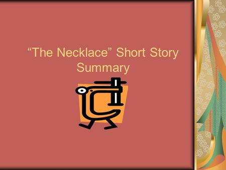 Story short pdf necklace the