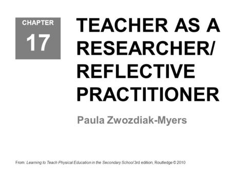 IMPROVING YOUR TEACHING AN INTRODUCTION TO PRACTITIONER
