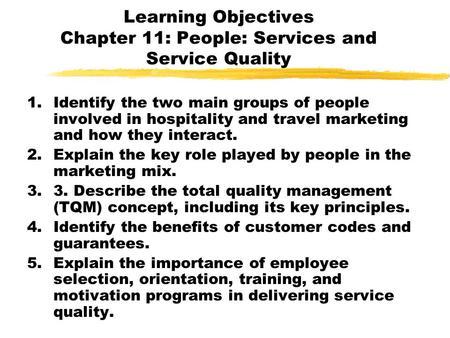 5-1 Customer Perceptions of Service Customer Perceptions