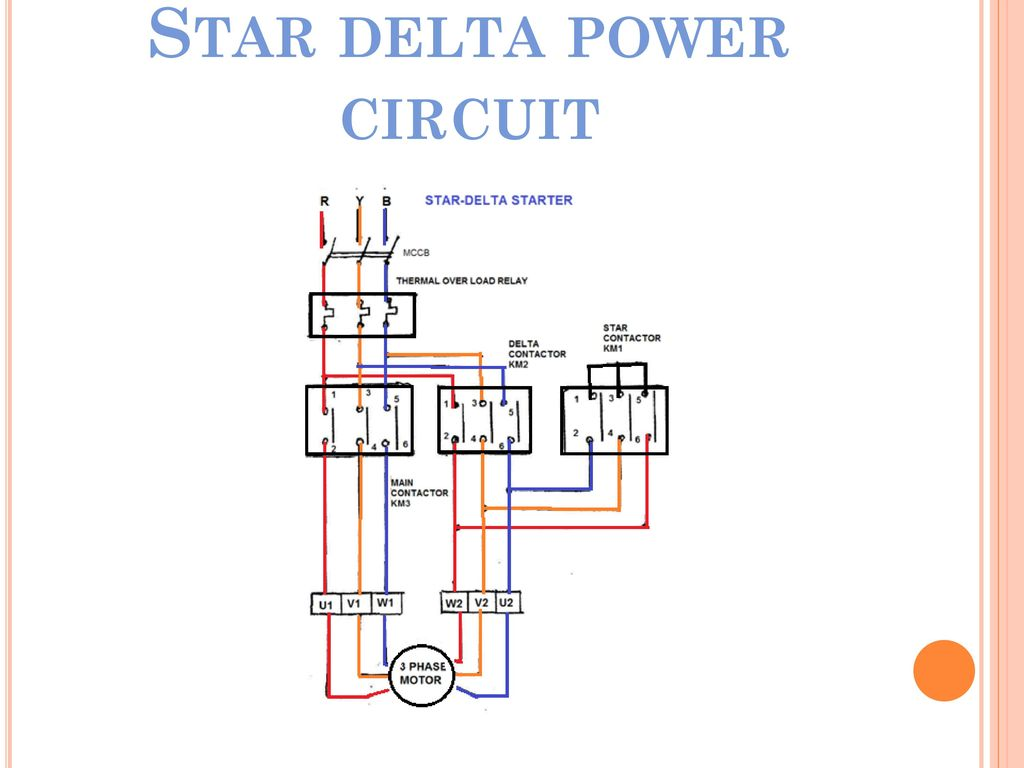 star delta wiring diagram motor start spot light switch electrical department element of electric design ppt