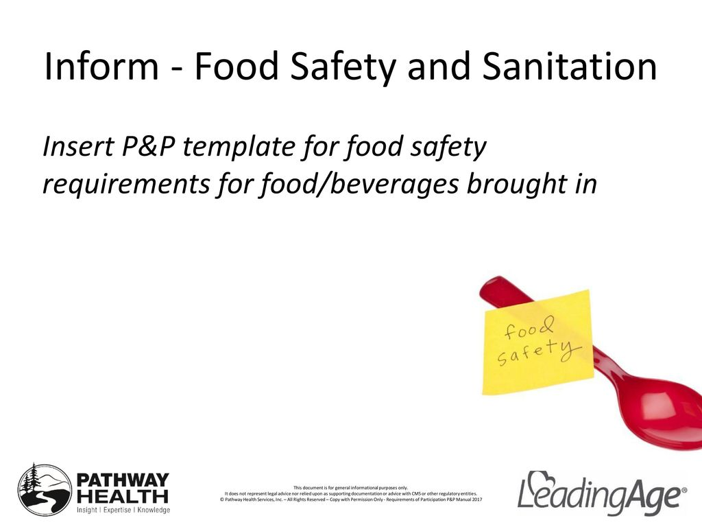 Food Safety Requirements Use And Storage Of Food Brought