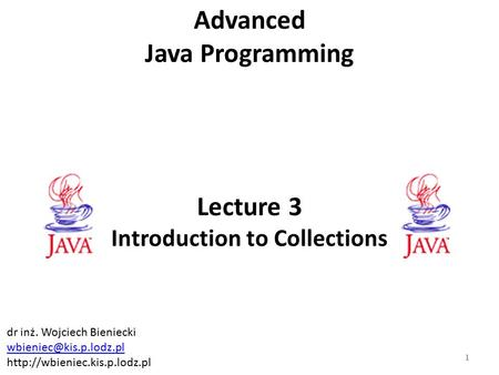 Object Oriented Programming Lect. Dr. Daniel POP