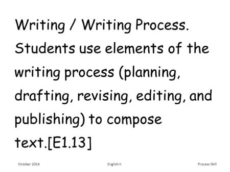 Developing Academic Skills for Writing across the