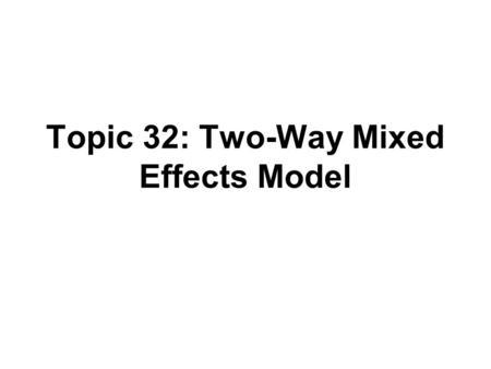 Statistical Analysis Professor Lynne Stokes Department of