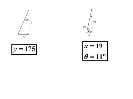 5.4 What About Other Right Triangles? Pg. 15 The Tangent