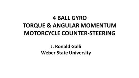 Alternative Steering Mechanisms for Motorcycles By Rohit