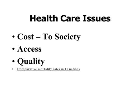 17 Policymaking for Health Care, the Environment, and